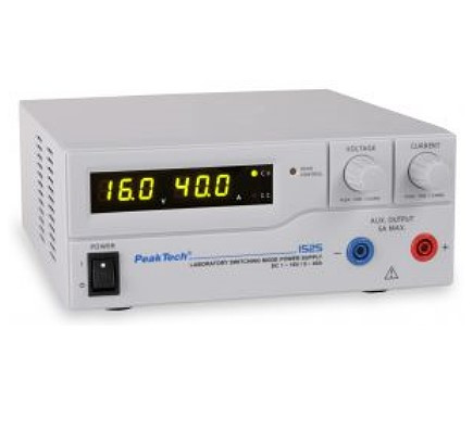 1525 Labor-Schaltnetzteil DC 1 - 16 V / 0 - 40 A