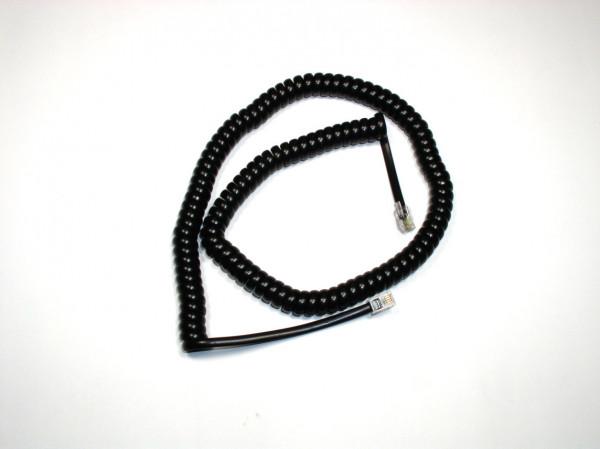 Telefon Hörerspiralkabel schwarz, Länge nach Auswahl