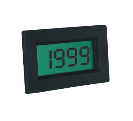 Einbaumessgerät LCD 13mm 200mV DC mit Hintergrundbeleuchtung