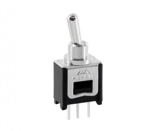 Kippschalter print Wechsler 0,3 A 125 Vac 1 polig MS611A