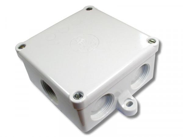 Abzweigdose 607 mit Laschen 92x92x45mm leer M25 Farbe grau IP54 2,5mm² 400V