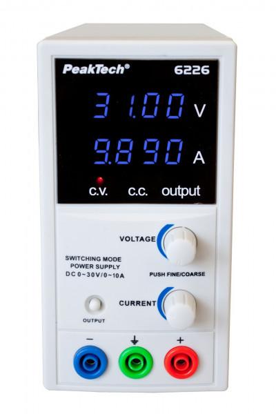 DC Labor-Schaltnetzteil 0 - 30V / 0 - 10A, 6226