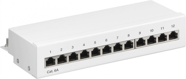 Patchfeld Panel CAT 6a Mini/Desktop, 12 Port