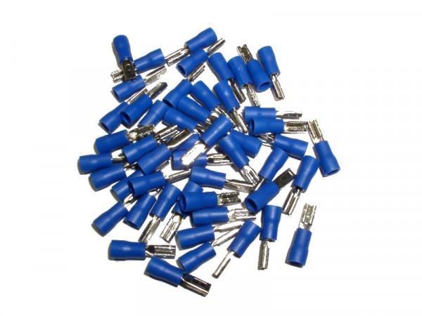 Flachsteckhülsen Kupplung Kabelsteckschuhe Crimpkontakt 1,5 - 2,5mm², 50St.