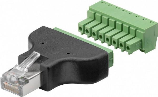 Terminal Block Lüsterklemmen 8-pin auf RJ45-Stecker (8P8C)