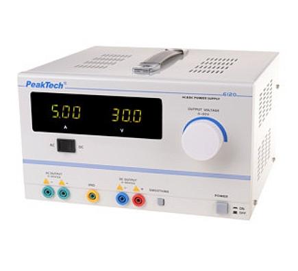 Stabilisiertes Labornetzgerät AC DC 0-30 V 5 A, 6120