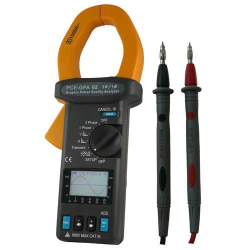 PCE-GPA 62 Leistungsmesser Multimeter Stromzange
