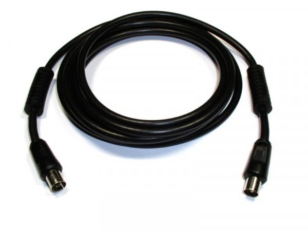 IEC Verbindungskabel Stecker/Kupplung (Filter) 112er-Geflech 3Meter schwarz