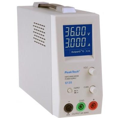 Schaltnetzteil 100Watt 1 - 36V 0 - 3A, 6135