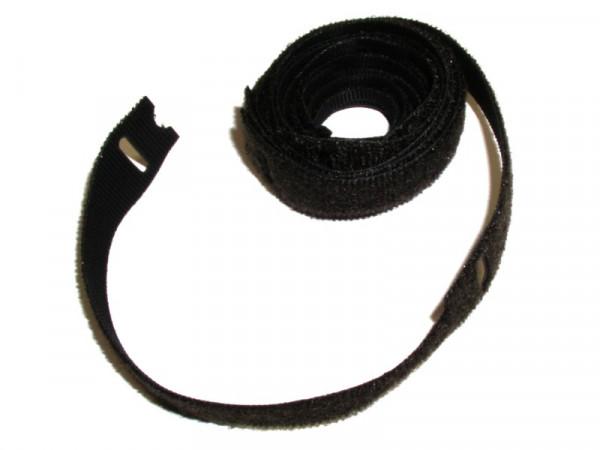 10x Klett-Kabelbinder mit Softverschluss 150 x 20 mm schwarz