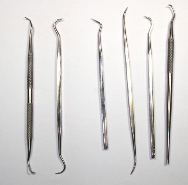 Dental Set für Elektronikanwendungen, Haken 6 Stück