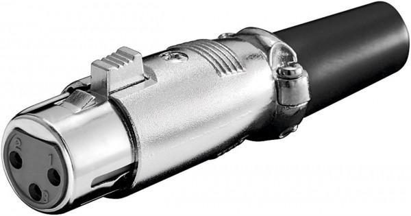 XLR Mikrofonkupplung 3 Pol. vergoldet