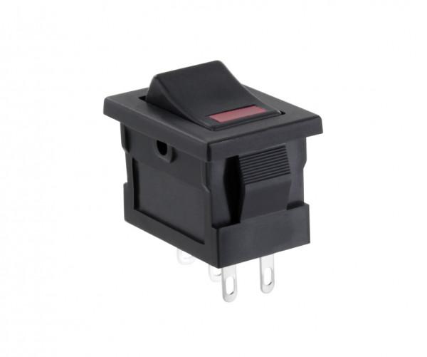Wippschalter Einschalter mit roter LED löt 5 A 125 Vac 1 polig