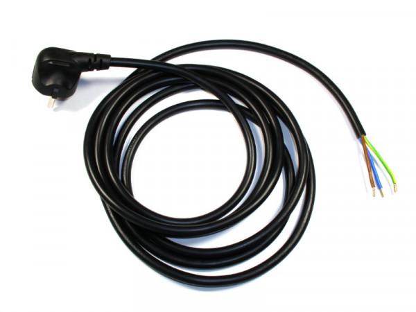 Schutzkontaktanschlussleitung Kabel 3G1,5mm² mit Stecker 90 Grad schwarz 3 Meter