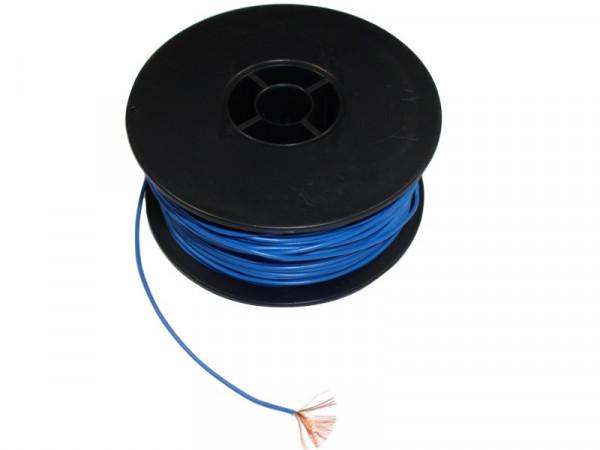 Kupferlitze LifY 0,25 mm² 1,4 mm PVC höchstflexibel blau 100 Meter