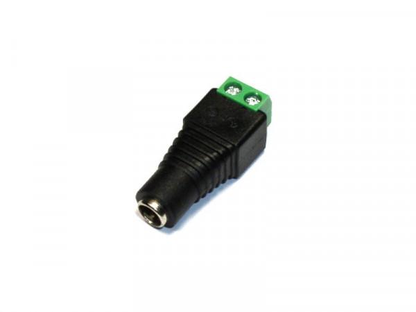 Buchse 5,5/2,1mm mit Lüsterklemme für LED Strips