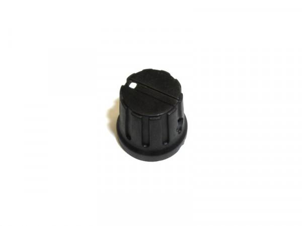 Potentiometer Kunststoff Knopf schwarz, auswahl verschiedene Grössen