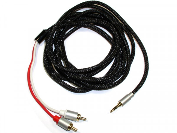 Stereo Audiokabel 3m 3,5mm Klinke auf Cinch (Stecker - Stecker)