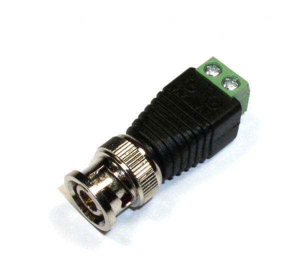 BNC-Stecker Male auf 2 Pin-Terminalblock, Lüsterklemme fest