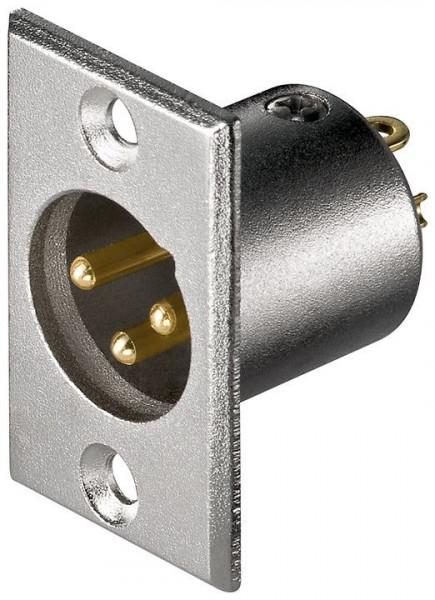 Mikrofon-Einbaustecker; 3 Pin