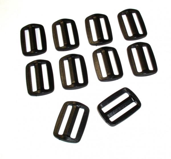 Regulator aus Nylon für 25mm breites Gurtband 10 Stück