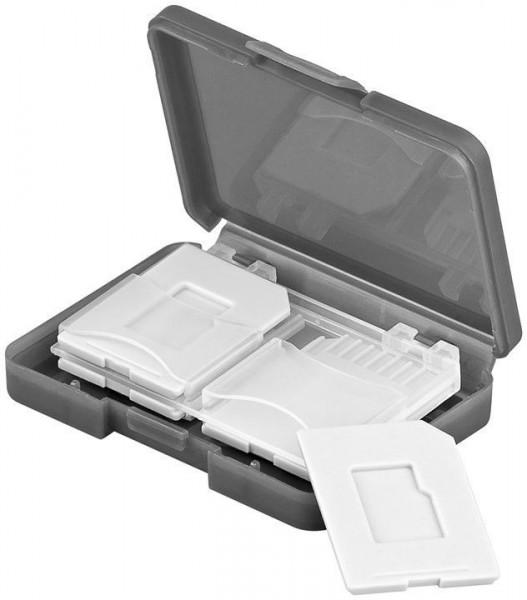 Speicherkarten Transportbox passgenau für max. 4x SD / Micro SD / MMC-Karten