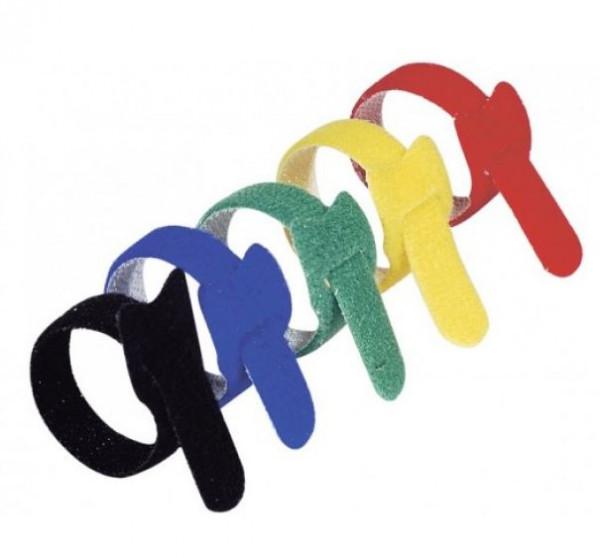 Klett-Kabelbinder, 200 mm, 15er Pack, farbig