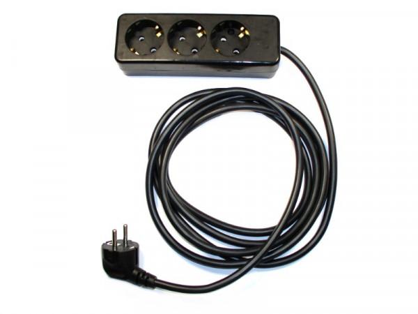 3-fach Verlängerungsleitung 3,0 Meter Typ 312/392 H05VV-F 3G1,5 mm2 250V/16A