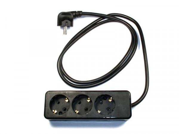 3-fach Verlängerungsleitung 1,5 Meter Typ 312/392 H05VV-F 3G1,5 mm2 250V/16A