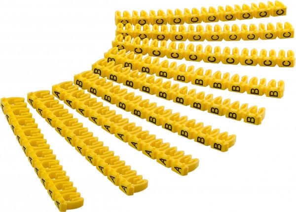 """Kabelmarker-Clips """"Buchstaben A-C"""", für Kabeldurchmesser bis 6 mm"""