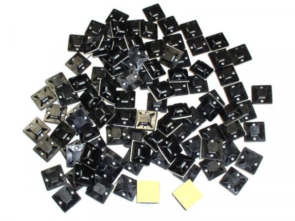 Klebe Pads Sockel für Kabelbinder bis 4mm 100St.