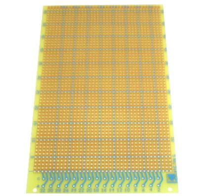Prüfungsplatine 100x160mm Streifenraster mit Steckerleistenansch