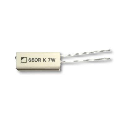 Hochlastwiderstand 680 Ohm 7Watt, Stehend