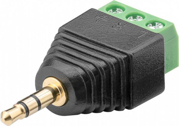 Terminal Block 3-pin auf Klinke 3,5 mm Stecker (3-Pin, stereo)