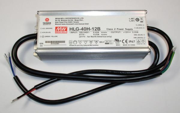 Einbau Schaltnetzteil für LED HLG-40H-12B IP67