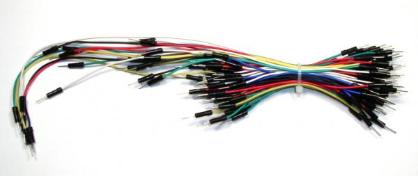 Flexible Verbinder für Laborsteckboards 65-teilig, verschiedene Längen/Farben