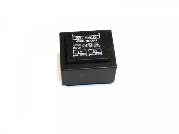 Print-Transformator 387122 3,6 VA 2 x 6 V 2 x 300 mA